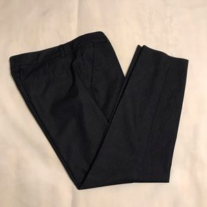 Navy pinstripe ankle pants from Express size 4